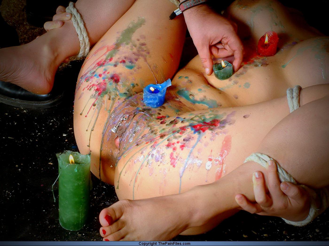 Naked girl desert bondage